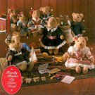 Teddy Bear Sewing Pattern Mom Dad Baby Plush Doll Clothing Christmas Victorian Country 8155