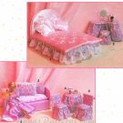 Barbie Doll Furniture Sewing Pattern Bed Bedding Table Chairs Vanity Loveseat 8158