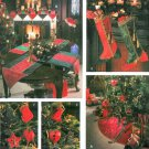 Christmas Decor Sewing Pattern Tree Skirt Table Runner Mantel Scarf Stocking Placemat Ornament 9748