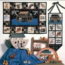 Noah's Ark Wall Hanging Sewing Pattern Runner Quilt Applique Handcrafted Nursery Decor Religious