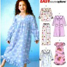 Toddler Girls Easy Pajama Sewing Pattern Gown Robe Top Pant Sleepwear 2 3 4 5 4646