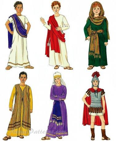 Kids Costume Pattern Christmas Easter King Shepherd Priest Mary Joseph 7-16 5905 Bible Religious