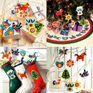 Christmas Decor Sewing Pattern Tree Skirt Stockings Ornaments Retro Modern Handcrafted Holiday 6674