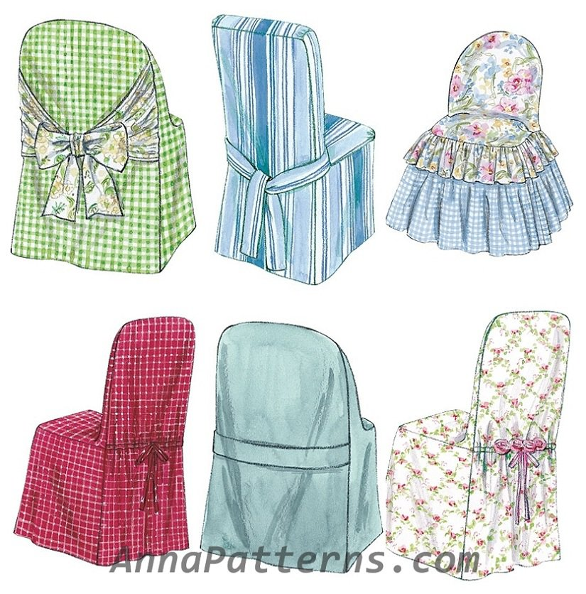 Chair Slip Covers Sewing Pattern Parsons Ladder Back ...