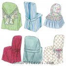 Chair Slip Covers Sewing Pattern Parsons Ladder Back Folding Windsor Easy Pullover Designs 3217