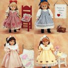 """Gotz Sewing Pattern 18"""" Doll Clothes American Girl Nightgown Quilt Dress Pinafore Pillow Purse 3275"""