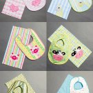Baby Toddler Bibs Burp Cloth Sewing Pattern Ballerina Giraffe Cow Pig Bear Owl Easy Applique 6478