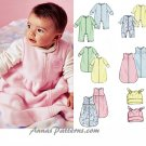 Bunting Sack Sewing Pattern Infant Baby Fleece Knit Jumpsuit Hat Blanket Warm Winter 4236