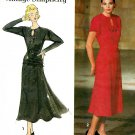 Sewing Pattern Vintage 50s Swing Dress Fitted Yoke Hip Band Belt Short Long Sleeve 12-16 7620