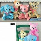 Stuffed Animal Sewing Pattern Nursery Baby Giraffe Elephant Pig Cat Child Plush Toy 2613