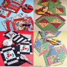 Sewing Pattern Patchwork Table Runner Placemats Napkins Fat Quarter Handcrafted Kitchen Dining 4486