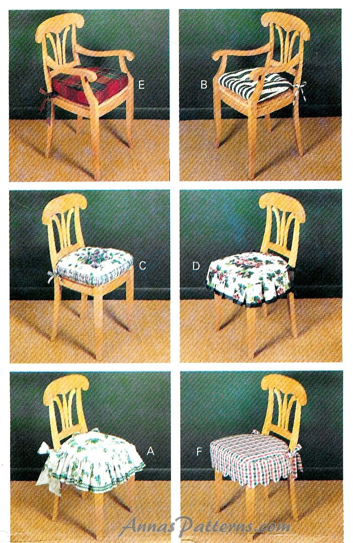 Sewing Kitchen Chair Cushions