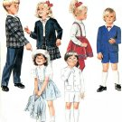 Children's Suit Sewing Pattern Boy Girl Jacket Skirt Shorts Pant Easter Holiday Vintage 3 3228