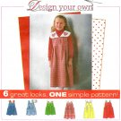 Girls Toddler Jumper Dress Sewing Pattern Easy Detachable Collar Applique 2 Lengths 3-6 8256