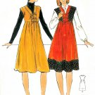 Tunic Jumper Dress Sewing Pattern Vintage Hipster Hippie Tie Front 70s 10 4952