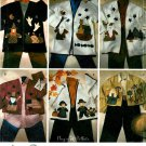 Applique Sweatshirt Jacket Sew Pattern Season Christmas Thanksgiving Fourth Noahs Ark Halloween 7032