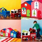 Child Toy Box Sew Pattern Train Doll House Shopping Mall Boy Girl Storage Bin Nursery Game Room 6806