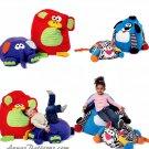 Child Plush Chair Bean Bag Sewing Pattern Animal Design Fun Play Room Nursery 6625