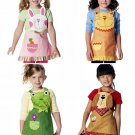 Girls Child Size Apron Sewing Pattern Animal Pet Rabbit Frog Dog Kitty Cat Applique 3-8 6298