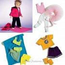 18 Inch Doll Clothes Sewing Pattern Ballerina Tutu Swimsuit Sarong Soccer Yoga Jacket Pants 4896