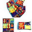 Monster Theme Child Quilt Blanket Pillow Sewing Pattern Nap Throw Travel Fun Whimsical 6411