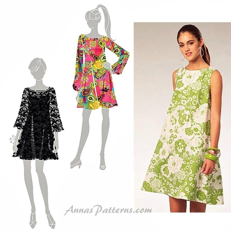 Trendy Dress Sewing Pattern Twiggy Mod 60 S Baby Doll