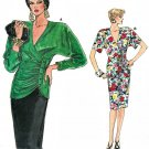 Vogue Sewing Pattern Top Skirt Retro Wrap Front Dolman Sleeve Slim Sexy Fit Vintage 8-12 9646