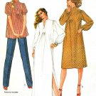 Maternity Top Dress Sewing Pattern Vintage Tunic Knee Ankle Length Peasant Mandarin Collar 8 7926