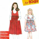Girls Jumper Dress Sewing Pattern Easy Gathered Skirt 2 Lengths 3 4 5 6 7 8 9726