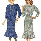 Drop Waist Dress Sewing Pattern Vintage Flapper Shaker Top Skirt Flounce Dolman Sleeve 8 10 12 4178