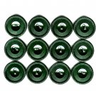 Dark Green Vintage Button Lot 15 Textured Rope Edge 5/8 Plastic Craft Sewing Jewelry