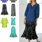 Pullover Tunic Top Skirt Pants Sewing Pattern Pull On Easy Mod Peasant Blouse 10-18 2737