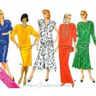 Pullover Top Skirt Sewing Pattern Swing Gored Flare Fitted Vintage 8-12 4023