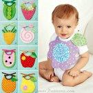 Baby Toddler Bib Sewing Pattern Yo Yo Strawberry Carrot Apple Watermelon Orange Pear 2273