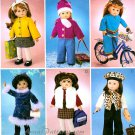 Doll Clothes Sewing Pattern 18 Inch Skirt Jacket Pants Vest Beret Beanie Fall Winter Wardrobe 3474