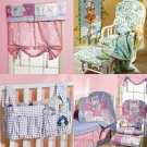 Nursery Bedding Pattern Quilt Bumper Sheet Crib Skirt Diaper Stacker Rocker Cushion Baby Room 4855