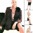 Wardrobe Sewing Pattern Misses Lined Jacket Pant Skirt Shirt Plus 18-22 3407