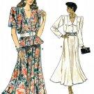 Vintage Vogue Sewing Pattern Flared Skirt Loose Top 80s V-neck Retro Mod 8-12 Easy 9905