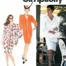 Misses Shirt Dress Sewing Pattern Button Front Knee Length Easy Scarf Extended Shoulder 10-18 7281