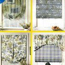 Easy Window Shades Sewing Pattern Roman Folded Pleated Balloon Festoon Topper Treatments 9986