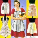 Vintage Aprons Sewing Pattern Half Pinafore Cooking Retro Easy Shaped Patchwork 3979