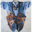 Patchwork Vest Sewing Pattern Indygo Junction Oversize Applique Yo Yo Necklace Country Prim