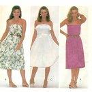 Halter Dress Sundress Sewing Pattern Strapless Flared Skirt Easy Vintage 8 7497 Sping Summer