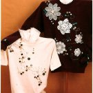 Sweatshirt Doily Pattern Instructions Shirt Top Buttons Ribbon Design Handcrafted Ozark Crafts