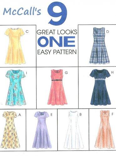 Easy Dress Sewing Pattern Short Sleeve Sleeveless Raised