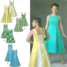 McClintock Sewing Pattern Girls Plus Dress Formal Wedding Sleeveless Laced Back 8-16 4570