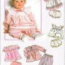 Girls Dress Bloomer Sewing Pattern Pinafore Apron Pants Long Short Sleeve Vintage 12 Month 9351