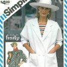 Kimono Style Jacket Coat Sewing Pattern Double Breasted Boxy Loose Unlined Vintage 12-16 6318