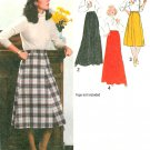 Gore Skirt Sewing Pattern Easy Floor Knee Length Vintage Retro Mod 70s 12 9066 Uncut
