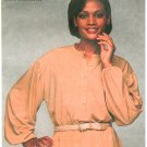 Vintage Sewing Pattern Pirate Blouse Peasant Top No Collar Shirt Loose Fit Easy 70s Retro 10-14 8822